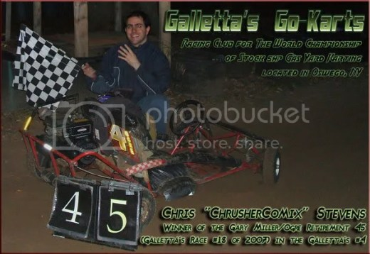 Chris Chrusher wins the 11/4/2007 event!