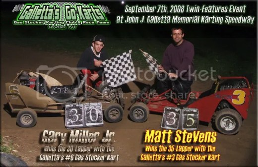 Galletta's 9/7/2008 winners: Gary Miller Jr & Matt Stevens