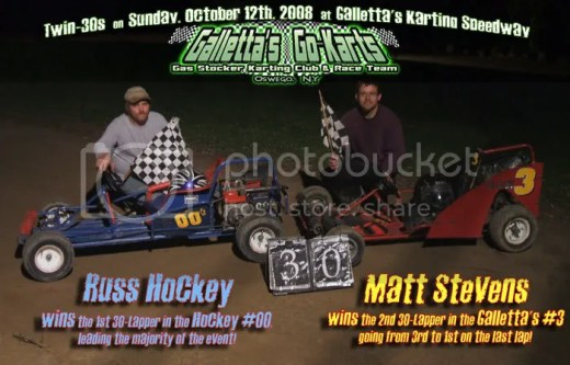 Russ Hockey & Matt Stevens win the Twin-30s on 10/12/2008