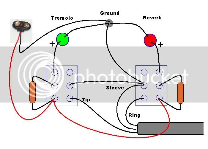 Fender Reverb Vibrato Footswitch Diagram Schematic