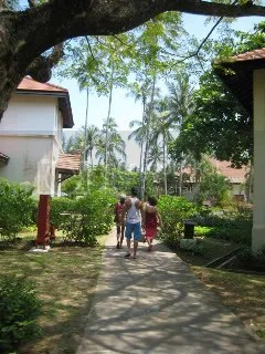 on the way to the pool in bintan