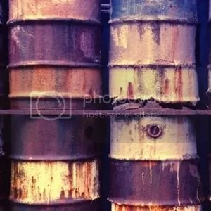 Chemical drums of the type that may have been used by Trafigura when they allegedly sprayed loads of Africans with horrible toxic loathsomeness