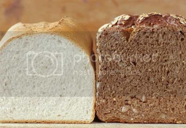 White and wholegrain bread