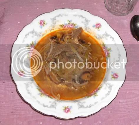 Korean hot & spicy beef soup