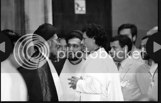 Gadhafi with IMAMs of Iran