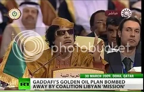 Moammar  and Mutassim Gadhafi, secretary of State at Arab league Conferene