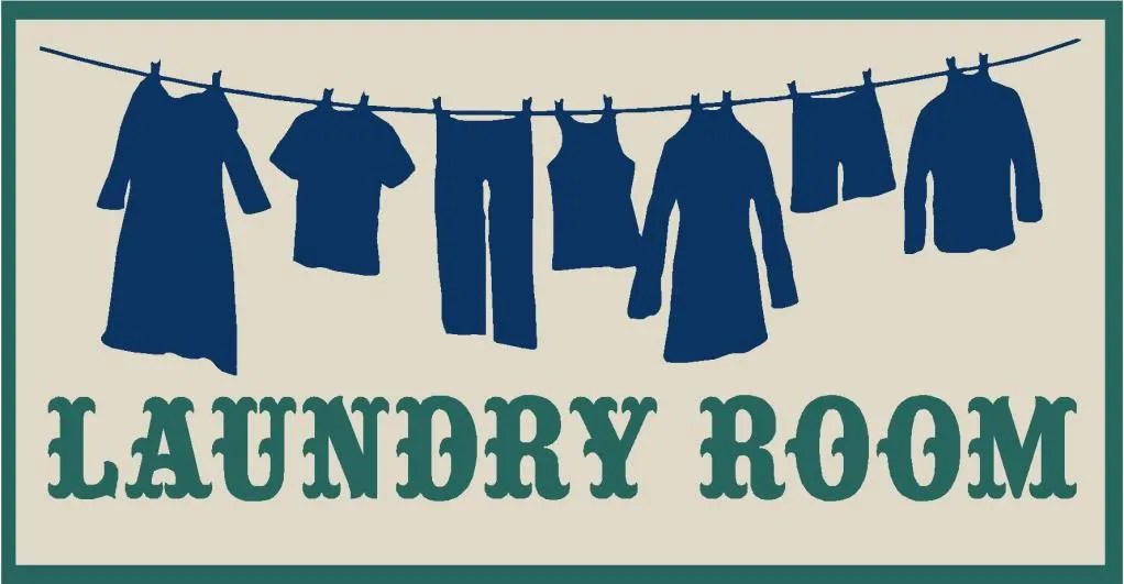PRIMITIVE STENCIL LAUNDRY ROOM CLOTHES ON A LINE EBay