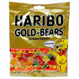 Gold Bears Gummi Candy, 5 oz size, 12 ct pack