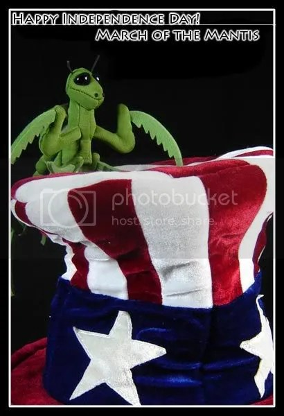 March of the Mantis wishes you a happy fourth of July