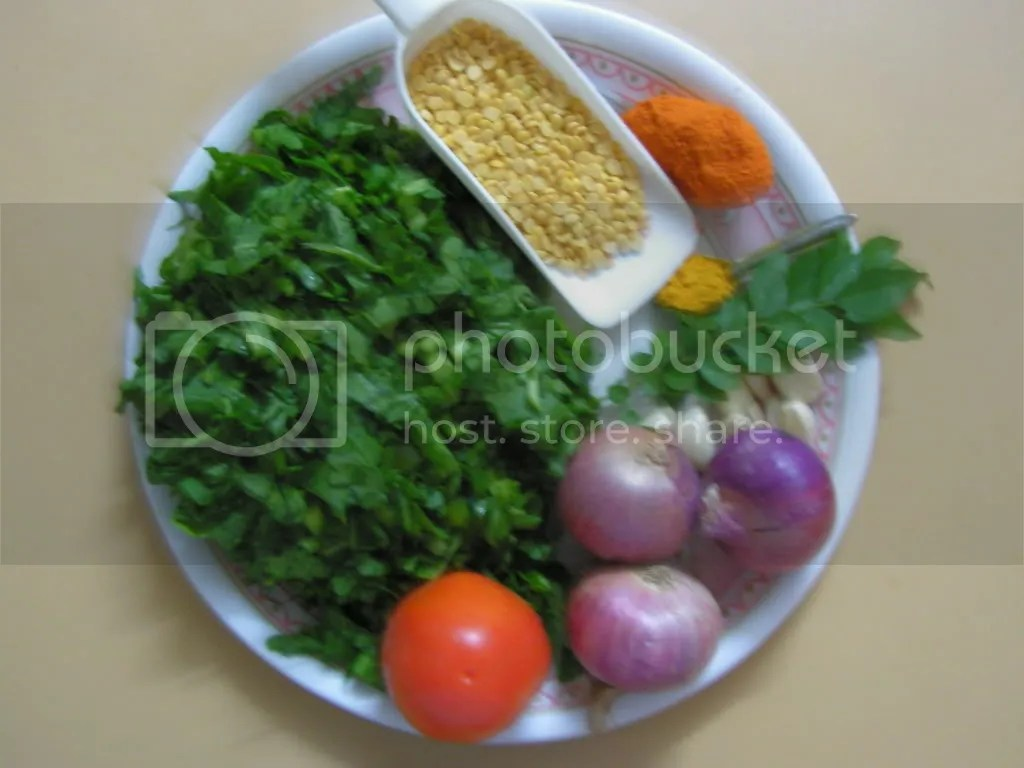 Ingredients of Dal Palak
