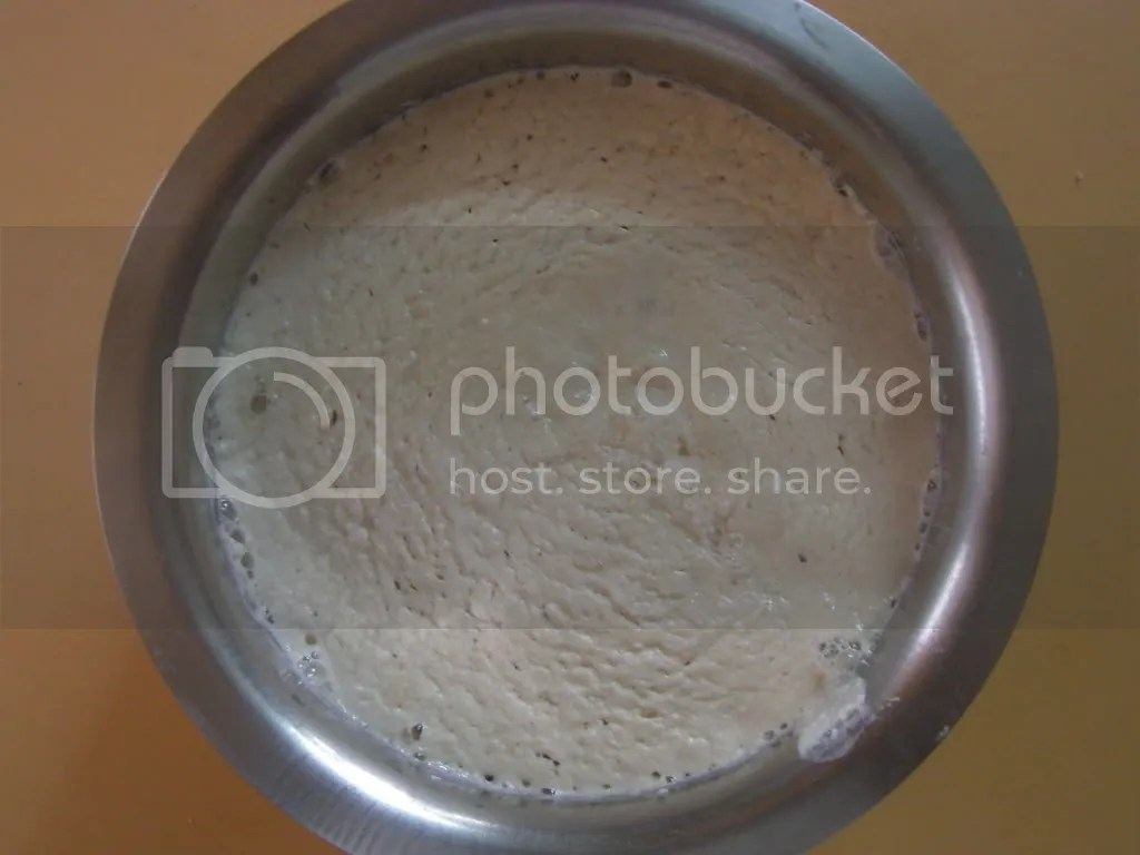 The fermentede Onion dosa batter