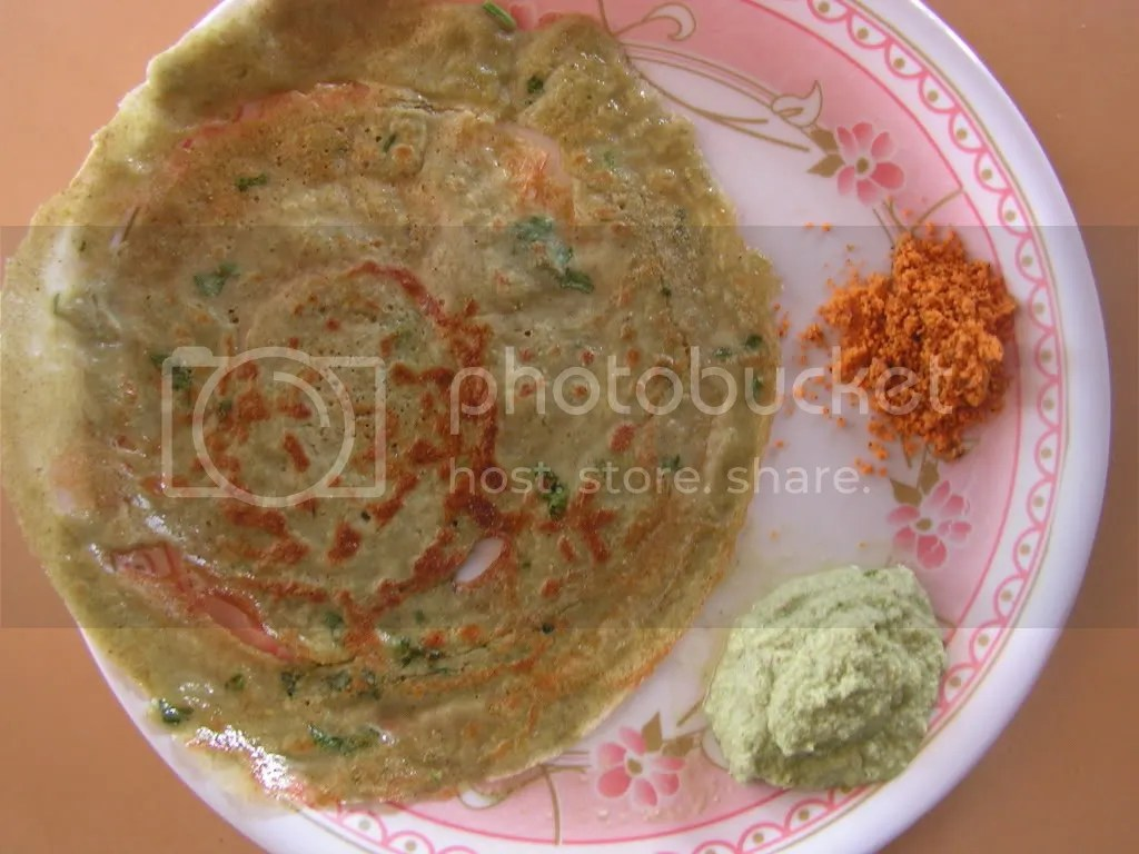 Ready Peasarattu with Ginger chutney & chutney powder
