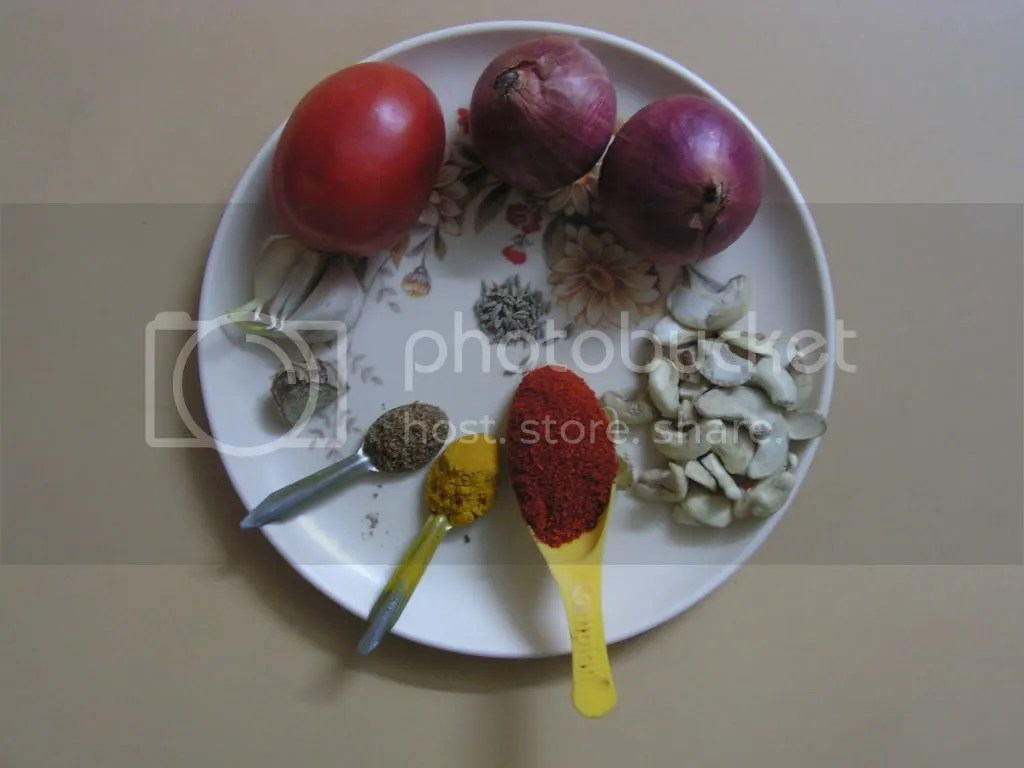 Ingredients of the  Wet masala
