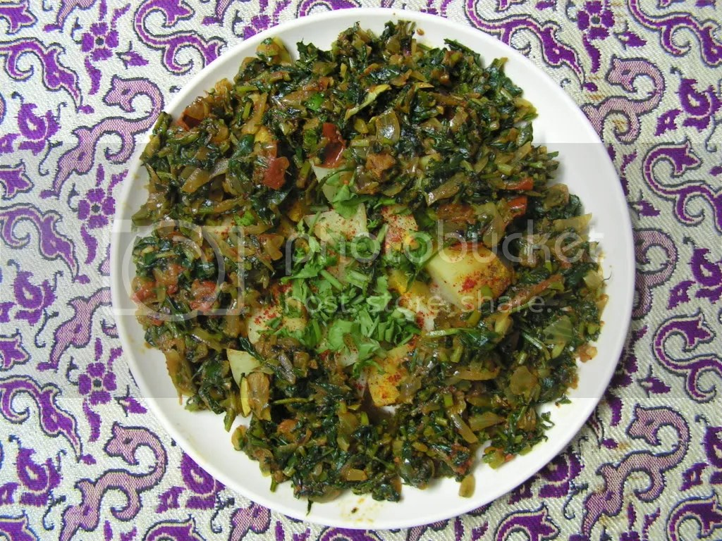 Ready to serve methi alu masala