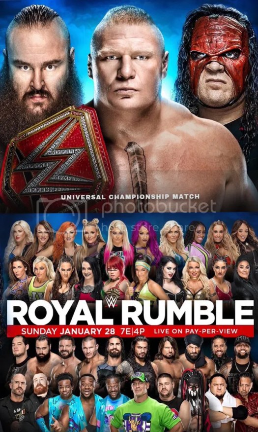 Photo: WWE Royal Rumble 2018 Poster Released | PWMania.com