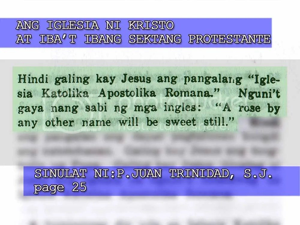 Refuting Ang Dating Daan Doctrines And Covenants 25