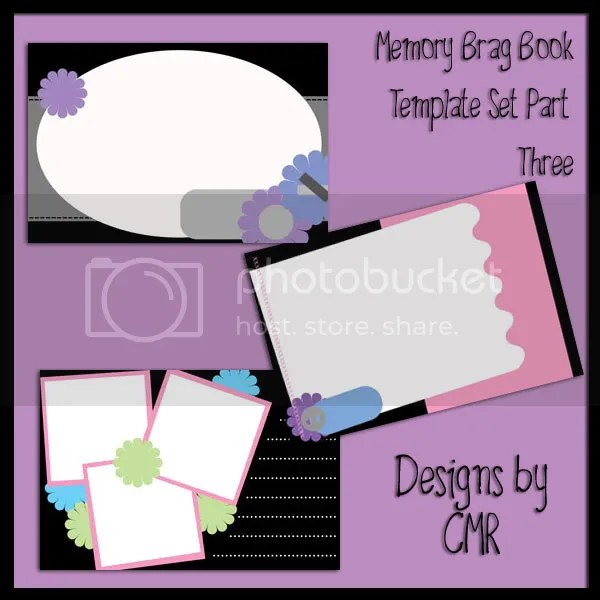 Memory Brag Book Template Set Part 3