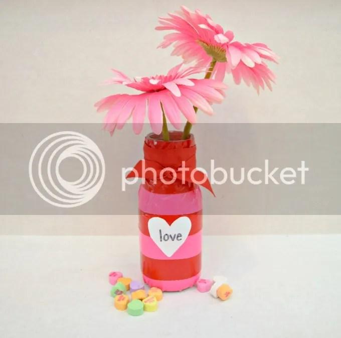 Duck Tape Valentine Vase
