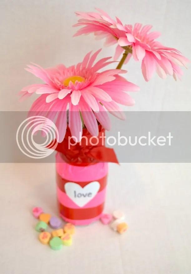 Valentine Duck Tape Vase
