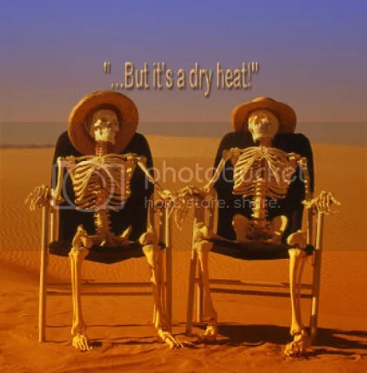 Image result for yeah but it's a dry heat