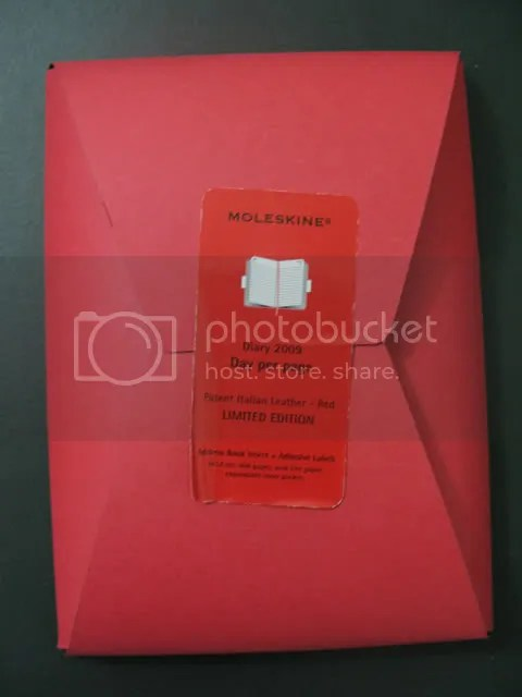 Moleskine 2009 Limited Edition Italian Patent Leather Red Daily Diary