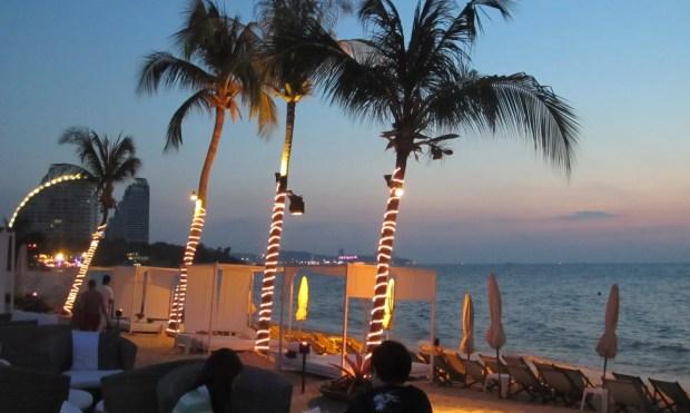 Pattaya Thailand beach side food wine
