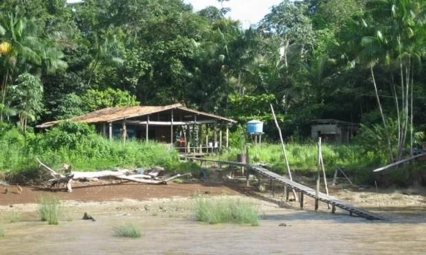 banks of mighty Amazon
