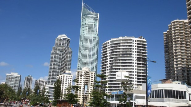 Blue Sky tall buildings Surfers Paradise