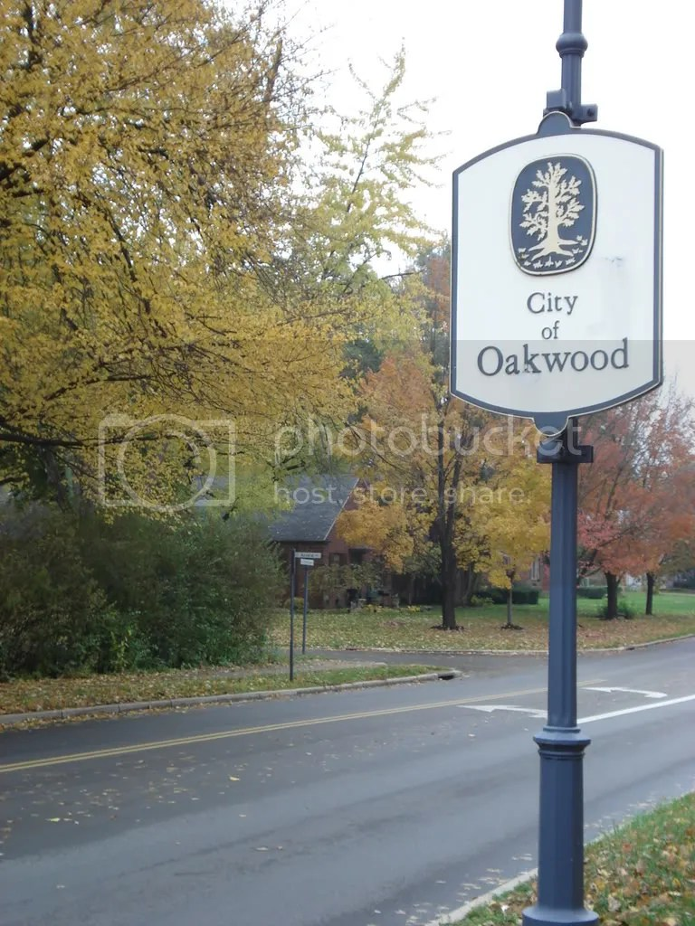 Outside the Oakwood Community Center in the Fall