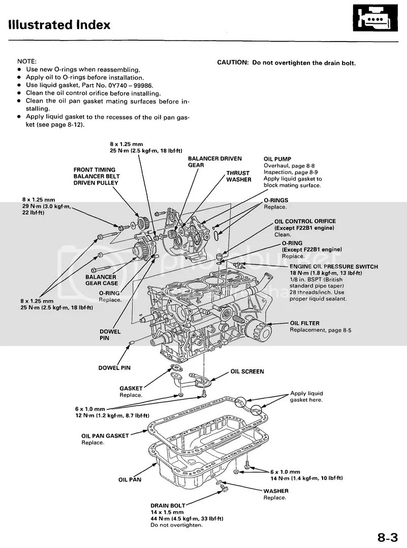 Honda Accord Cl Oil Pan Gasket Installation