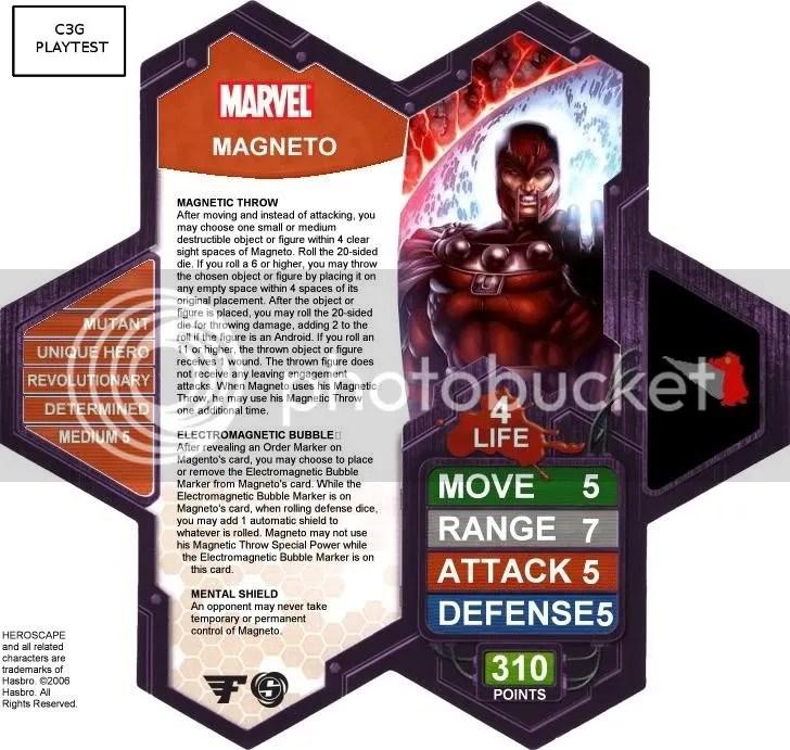 C3G Magneto playtest