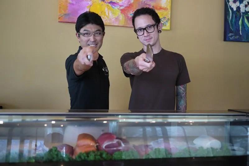Matt Heafy of Trivium visits Shin Sushi