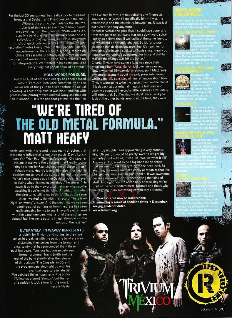 Rock Sound September 2011