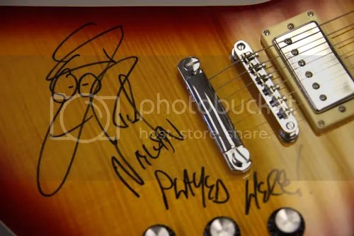 Rick Nielsen Autographed Guitar