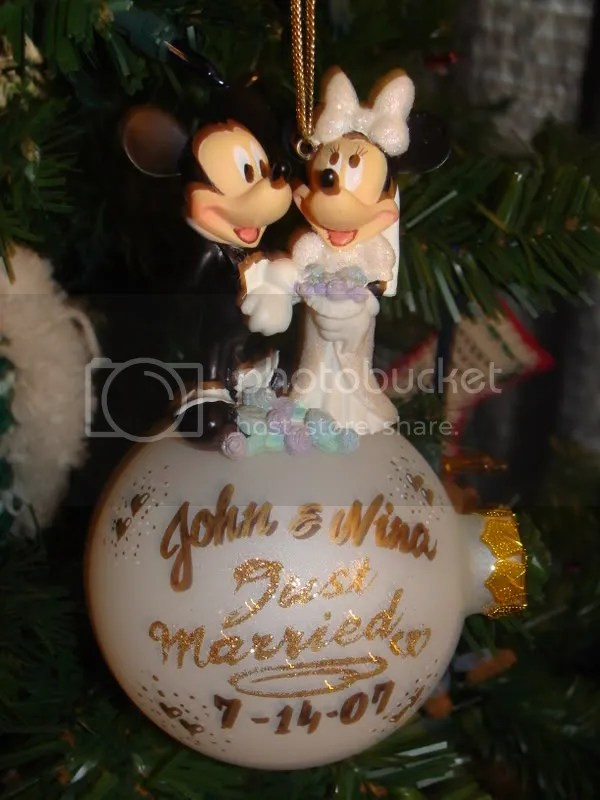 Disney Wedding Ornament