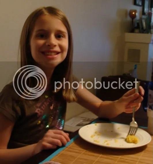 Hannah eating