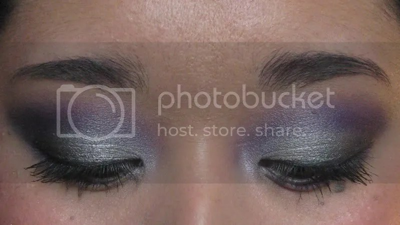 LA Kings Makeup Tutorial,warmvanillasugar0823,purple eye shadow,silver eye shadow