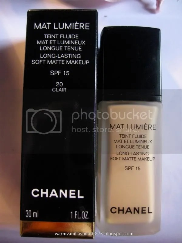 Chanel Mat Lumiere,Chanel Foundation,Chanel Mat Lumiere 20 Clair,warmvanillasugar0823