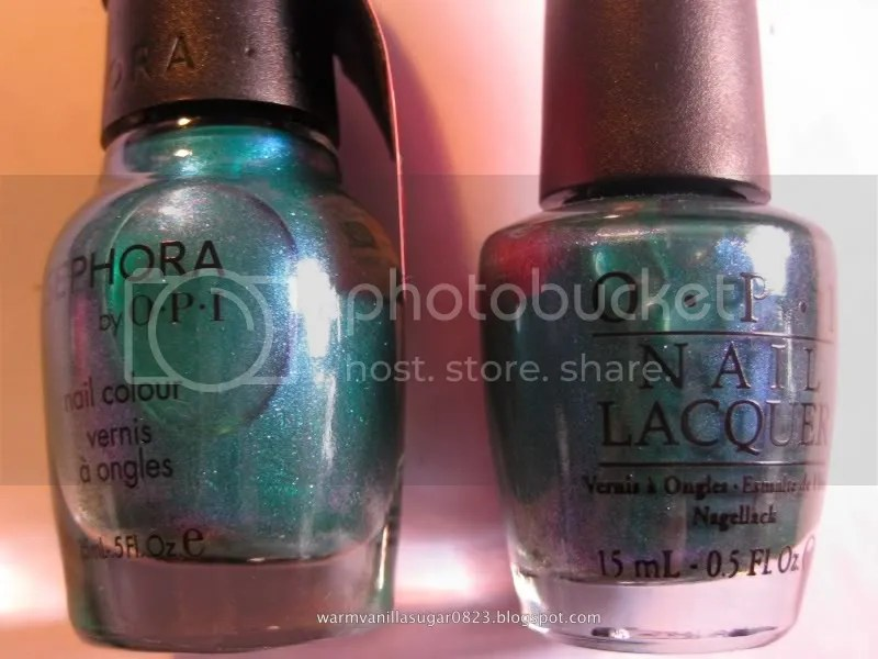 Sephora by OPI Who Let The Dorks Out,OPI Austin-tatious Turquoise,Sephora by OPI Glee,warmvanillasugar0823