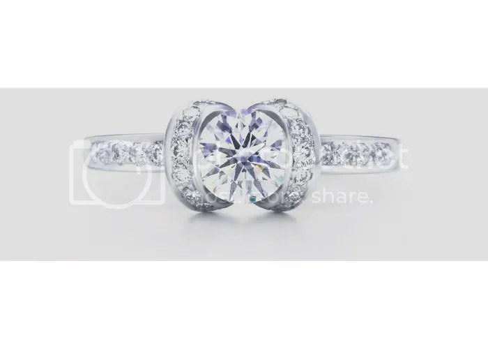 Tiffany's Ribbon Round Diamond Engagement Ring