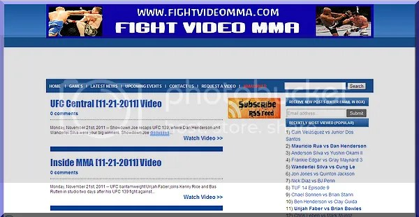 fight video mma