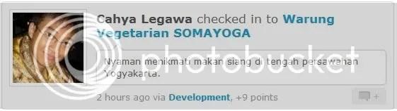 Check in Foursquare