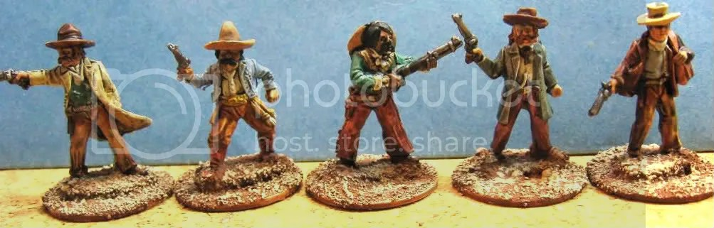 Old Glory 25mm Cowboys 120
