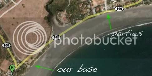 Samara Beach - our bases