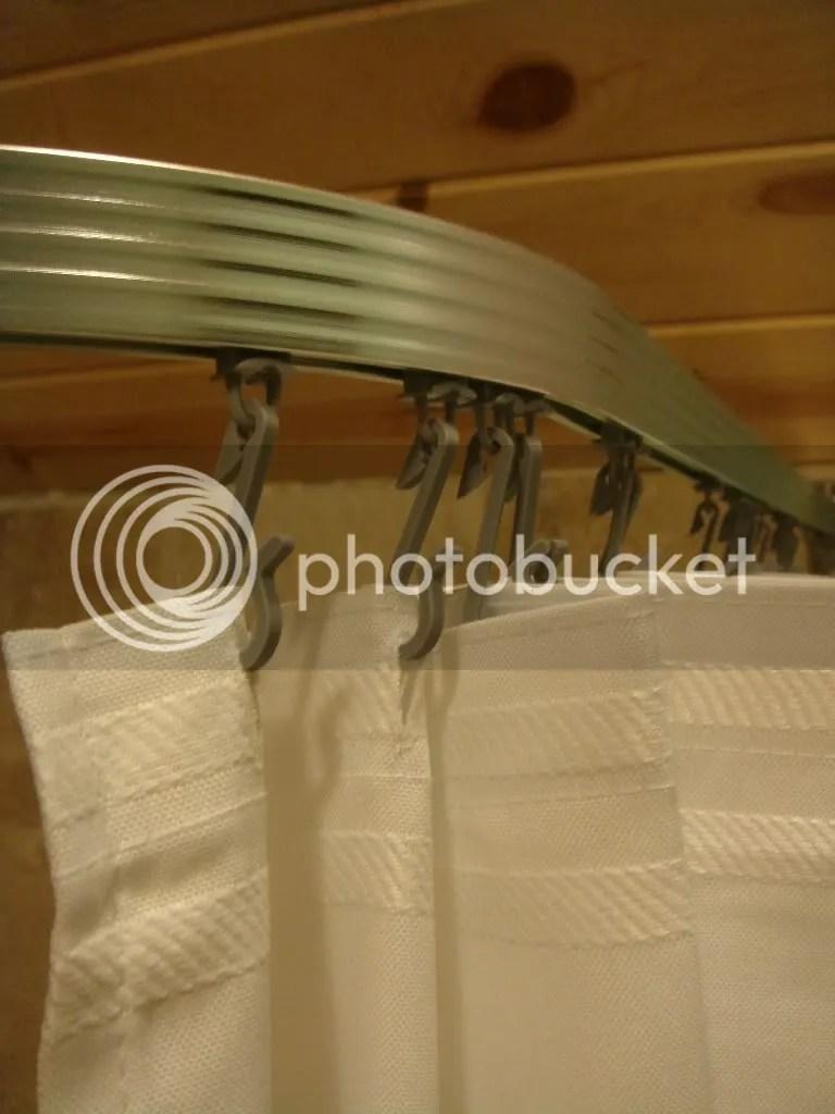 Corner Shower Curtain Rod Clawfoot Bath Tub Curved L On