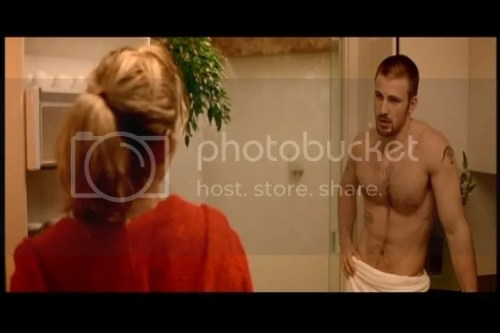 Chris Evans shirtless in London