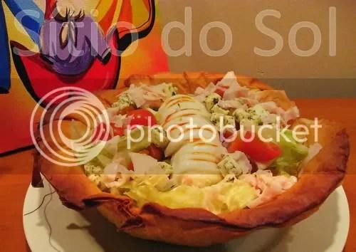 Salada SOL em Cesta de Filó