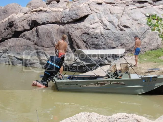 parked in a cove for some fishing and swimming