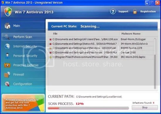 Fake Antivirus 2013 / Windows 2013 Removal