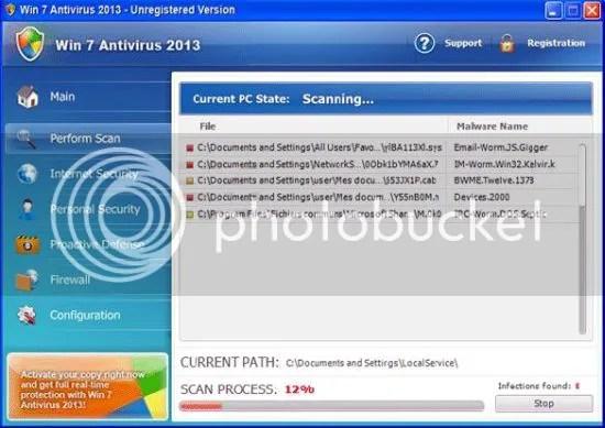 Fake Antivirus 2013 / Windows 2013 Removal